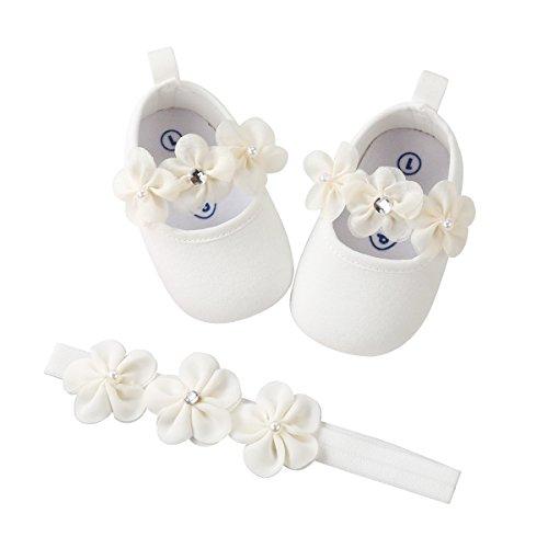 Kuner Baby Girls Christening Baptism Toddler Shoes Dance Ballerina Slipper