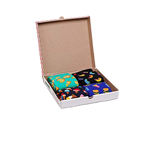 Happy Socks Junk Food Gift Box in Black Combo