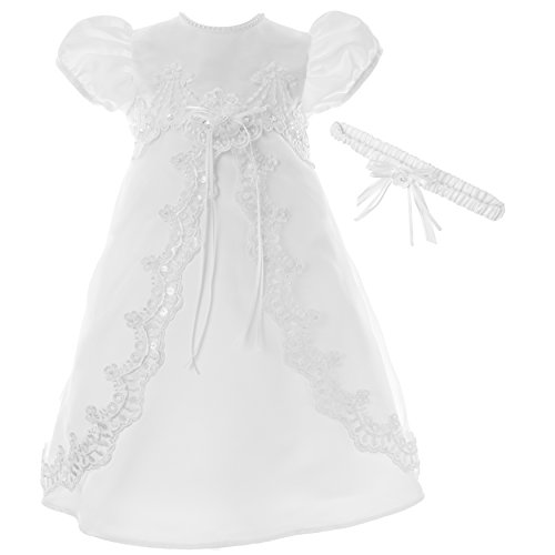 Lauren Madison Baby Girls' Christening Baptism 2 Piece Split Front Dress