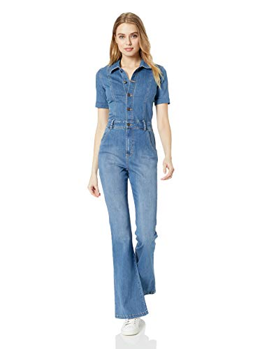 Ella Moss Women's Button Down Jumpsuit, Dark Primrose