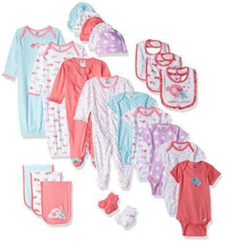 Gerber Baby Girls' 26-Piece Essentials Gift Set