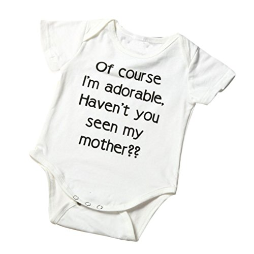 Hatoys Baby Boys Girls Cute Letter Jumpsuit Climbing Clothes Romper