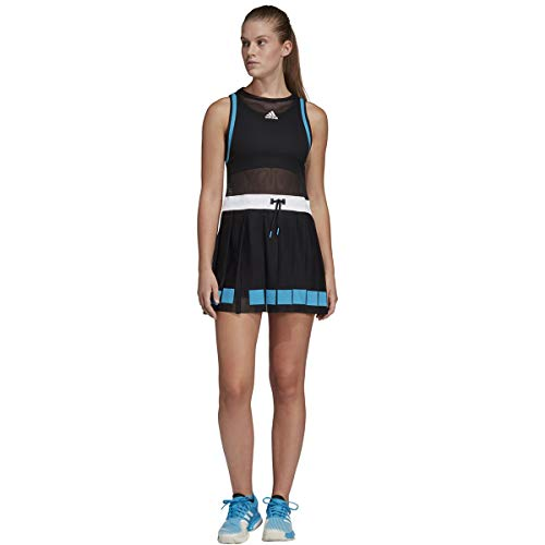 adidas Escouade Tennis Dress, Black/White