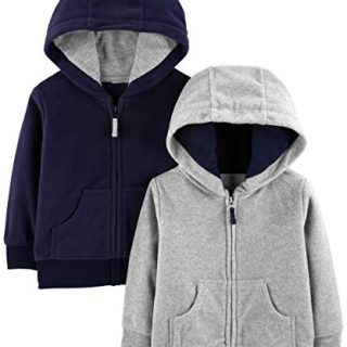Simple Joys by Carter's Boys' 2-Pack Fleece Full Zip Hoodies