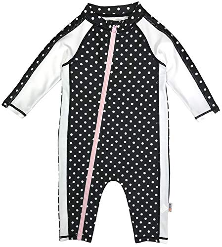 SwimZip Little Girl Long Sleeve Sunsuit Romper Swimsuit