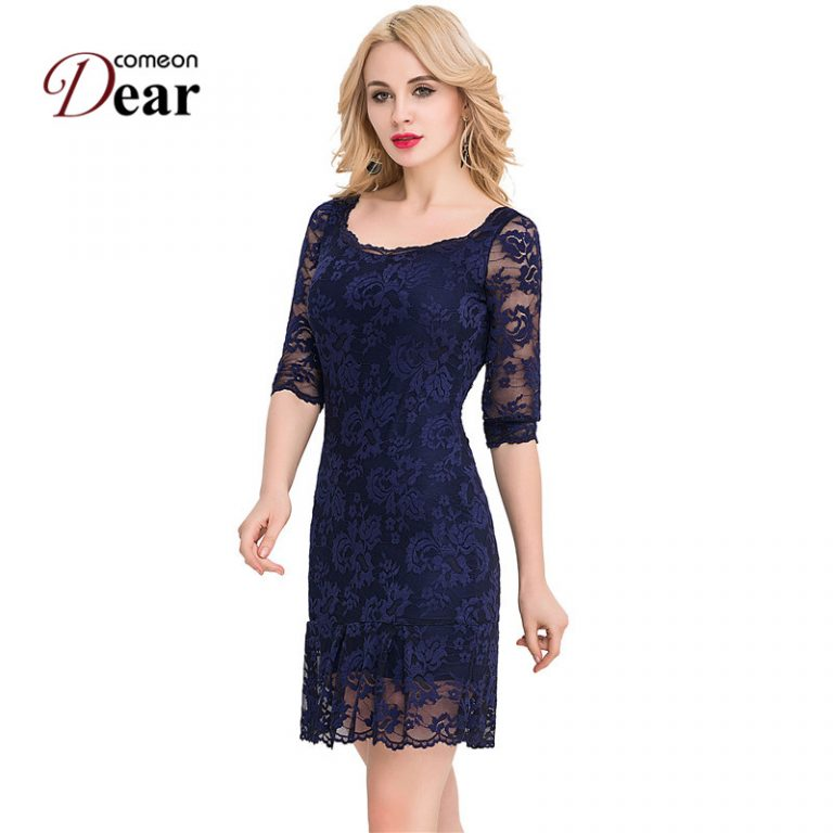 VJ1046 Comeondear Plus Size Women Clothing 3/4 Sleeve