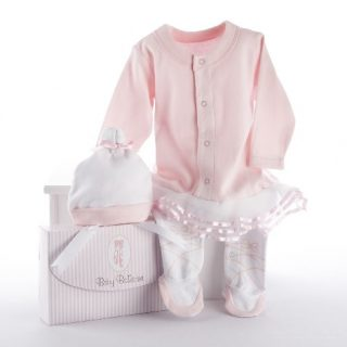 Baby Aspen, Baby Ballerina Two-Piece Layette Set in Gift Box