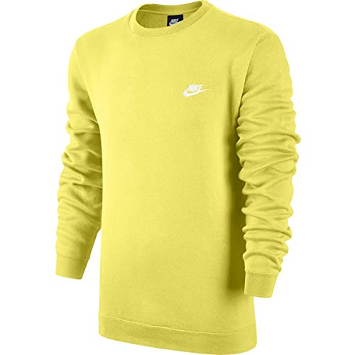 Nike Mens Sportswear Crew Fleece Club Sweatshirt Yellow
