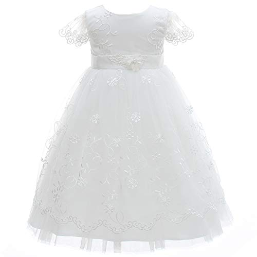 Silver Mermaid Elegant Baby Girls Christening Dress