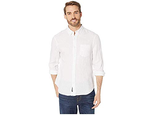 Reyn Spooner Men's Linen Long Sleeve Shirt, White, X-Large