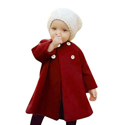 Noubeau Toddler Baby Girls Cute Fall Winter Button Cardigan Jacket