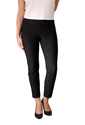 Eileen Fisher womens SLIM ANKLE PANT W/YK in Black