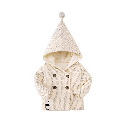 pureborn Toddler Girls Boys Hooded Quilt Lined Jacket Outfit