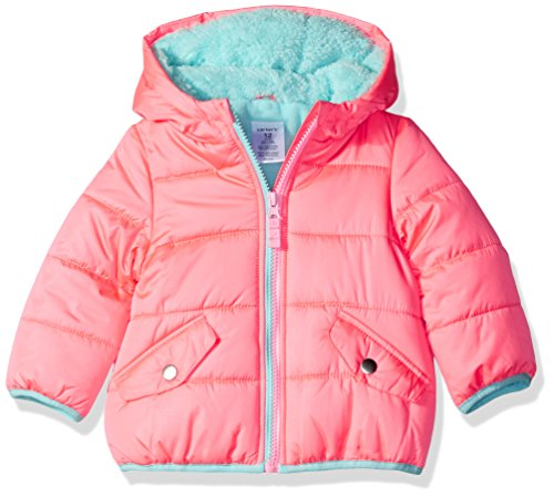 Carter's Baby Girls' Infant Classic Heavyweight Puffer, Coral, 24M