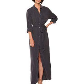 Rachel Pally Women's Twill Shirtdress, Asphalt L