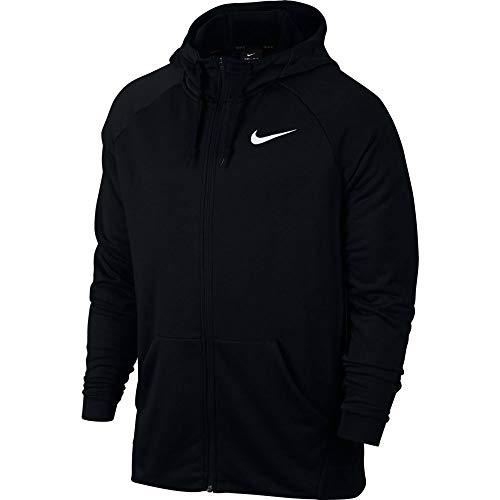 Nike Mens DRY HOODIE FZ FLEECE, BLACK/WHITE, 2XL-T