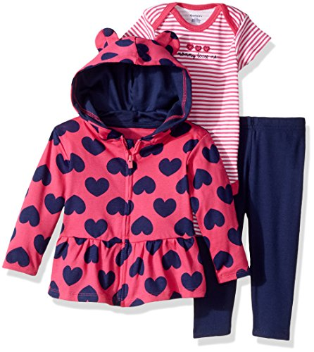 Gerber Baby 3 Piece Hooded Jacket, Bodysuit and Pant Set