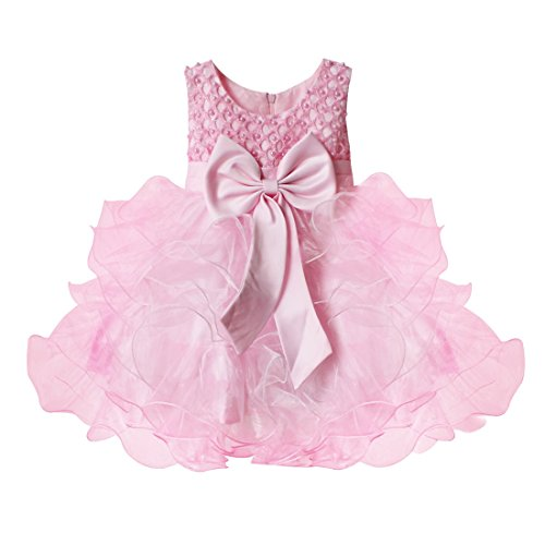 TiaoBug Baby Girls Flower Wedding Pageant Princess Bowknot