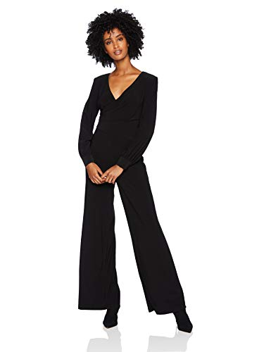 Adrianna Papell Women's Long Sleeve Matte Jersey Wide Leg Jumpsuit