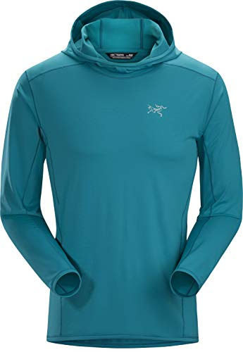 Arc'teryx Men's Phasic Sun Hoodie Dark Firoza Medium