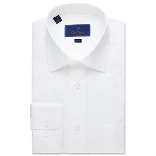 David Donahue Men's Twill Trim Fit Dress Shirt