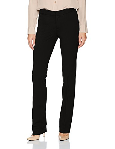 NYDJ Women's Ponte Trouser Pant, Black, 8