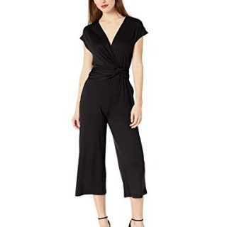 Ella Moss Women's Addison Twist Drape Jumpsuit Black Small