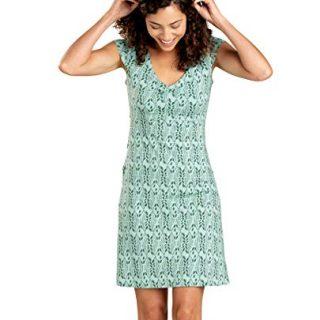 Toad&Co Women's Rosemarie Dress, Aquifer Petal Print