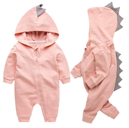 Newborn Baby Boys Girls Cartoon Dinosaur Hoodie Romper