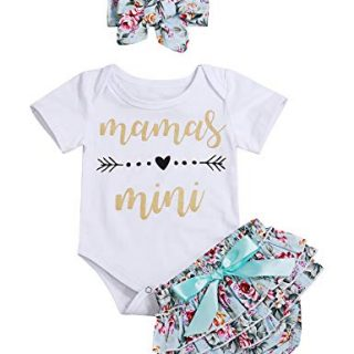 Newborn Baby Girl Summer Clothes Mamas Mini Romper Floral Shorts