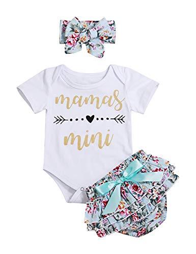 Newborn Baby Girl Summer Clothes Mamas Mini Romper Floral Shorts