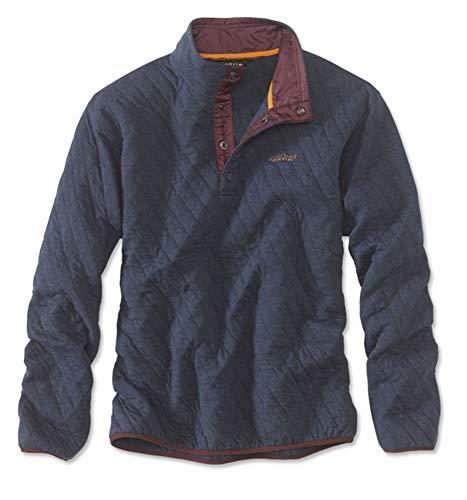 Orvis Men's Trout Bum Quilted Snap Sweatshirt/Trout Bum Quilted