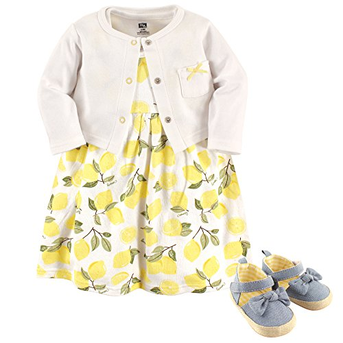 Hudson Baby Girl Cardigan, Dress and Shoes, 3-Piece Set