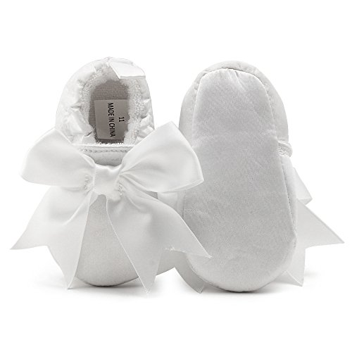 OOSAKU Baby Girl Christening Baptism Flower Lace Shoes