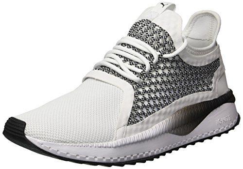 PUMA Men's Tsugi Netfit Sneaker, White Black