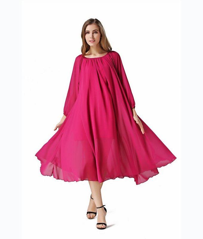 Buenos Ninos Custom Women Chiffon Long Dress