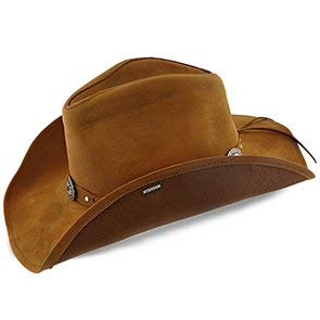 Stetson & Dobbs Mens Roxbury Shapeable Leather Wester Hat