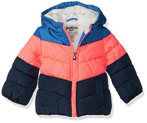 OshKosh B'Gosh Baby Girls Perfect Colorblocked Heavyweight Jacket Coat