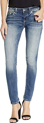 Miss Me Women's Feather Arrow Skinny Jeans in Medium Blue