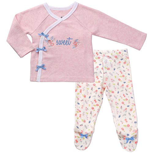 Asher and Olivia Infant Clothes Footed Pants Long Sleeve