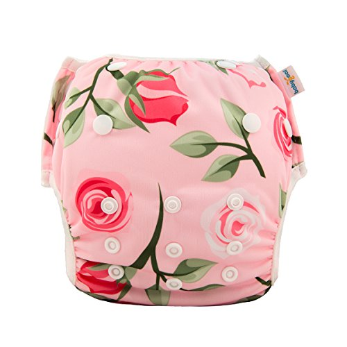 babygoal Reusable Swim Diaper for Girls, One Size