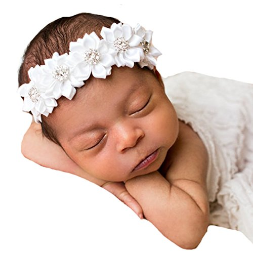 Miugle Baby Baptism Headbands Infant Toddler Christening Headbands