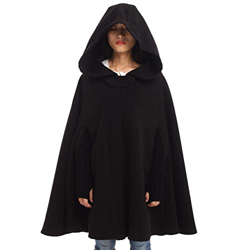 GRACEART Women's Hoodie Woolen Cape Cloak Costume