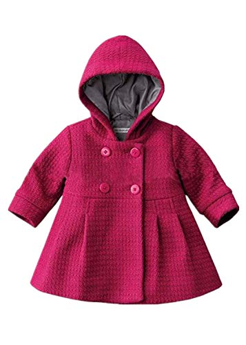 Verypoppa Baby Girls Hooded Long Sleeve A Line Trench Coat