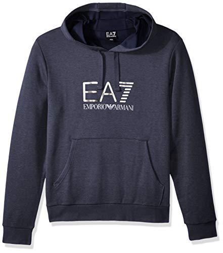 EA7 Emporio Armani Active Men's Train Visibility Melange Hoodie Sweatshirt