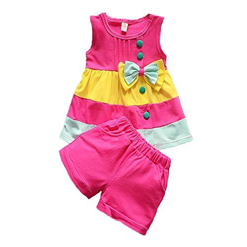 Summer Girls Set Toddler Clothes Sleeveless Vest+ Shorts