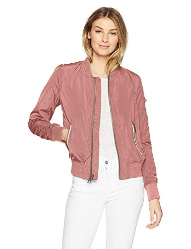 Levi's Women's Poly Bomber Jacket with Contrast Zipper Pockets