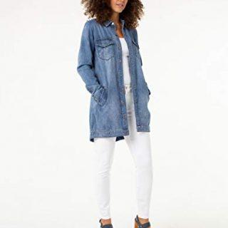 Liverpool Women's Jeans Company Long Smock Shirt Jacket