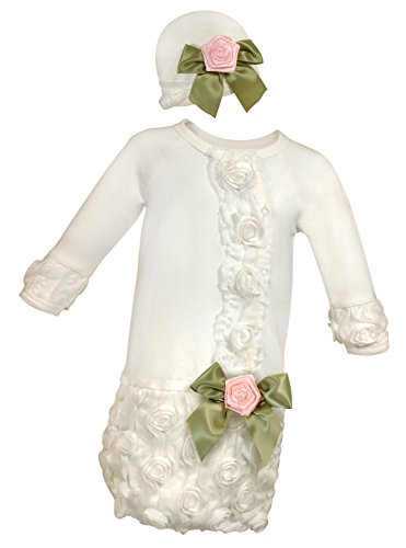 Stephan Baby Girl's Night Out Gown and Cap Set