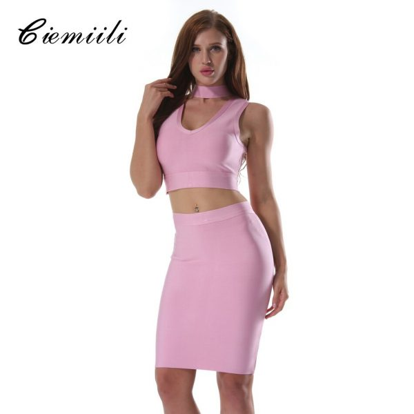 CIEMIILI Sexy Women Summer Dress Club Wear Dress